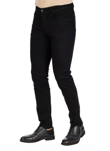 White Stone Borgholm Rahat Fit 5 Cep Pamuklu Jean Pantolon Siyah Siyah